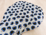 Polka Dot Cookie Monster Blue and White Striped Backing Universal Pram Liner