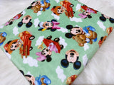 Baby Mickey and Minnie Minky Pram Blanket