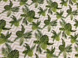 Palm Leaves on Chevron Cot Fitted Sheet