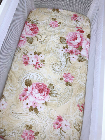 Diana Floral Bassinet Fitted Sheet