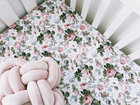 Arianna Floral Cot Fitted Sheet