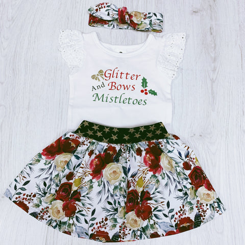 Glitter Bows and Mistletoes Christmas set