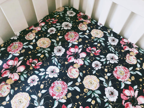 Alannah Floral Cot Fitted Sheet
