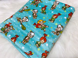 Bam Bam and Pebbles Minky Pram Blanket