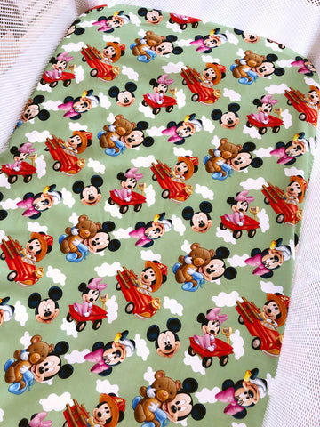 Baby Mickey and Minnie Bassinet Fitted Sheet