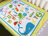 Colourful Alphabet Cot Quilt