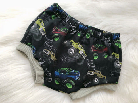 Monster Trucks and Wheels Baby Bummies