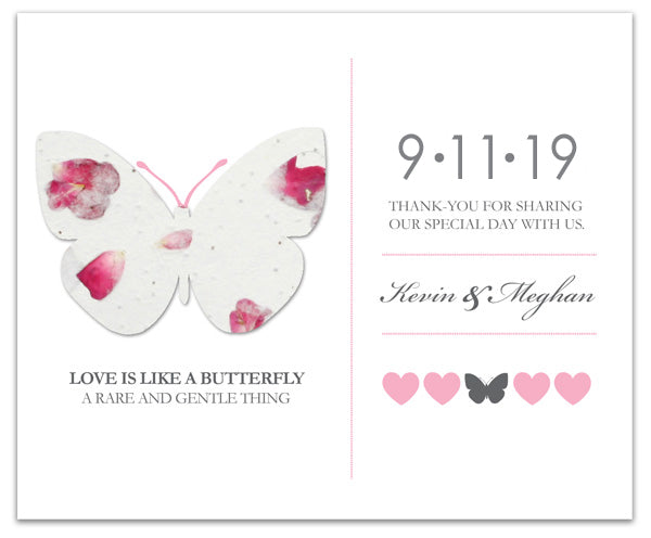 Plantable Favor Card Butterfly Theme - Set of 25