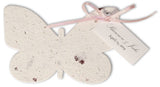 Large Butterfly or Dragonfly Favor with Ribbon & Tag - Set of 25