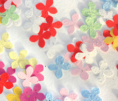 Plantable Paper Confetti - Flower Shape (1 oz bag)