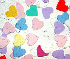 Plantable Paper Confetti - Heart Shape (1 oz bag)