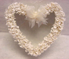 Handmade Heart Shape Box With Clear Top - Cream