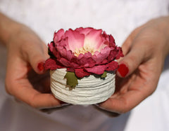 Decorative Floral Mini Box - Peony