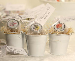Mini Seed Tin With Pouch & Personalized Tag - Set of 12