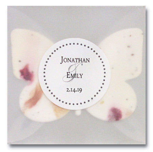 Plantable Favor with Vellum Envelope & Personalized Label - Set of 25