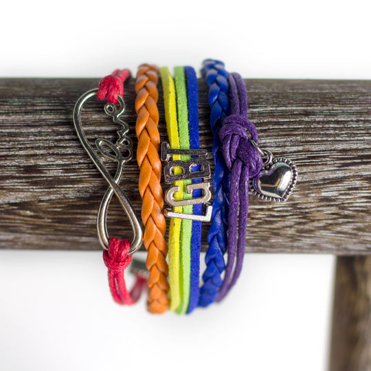 Love LGBTQ (faux) Leather Bracelet gay queer