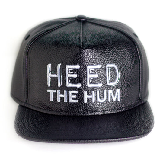 HEED THE HUM Faux Leather Unisex Hat, Hats, HEED THE HUM