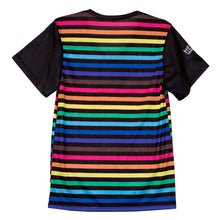 Rainbow Striped Unisex T-shirt - LGBTQIA+ Unisex Pride V-neck