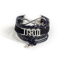 Love LGBTQ (faux) Leather Bracelet, Jewelry, HEED THE HUM