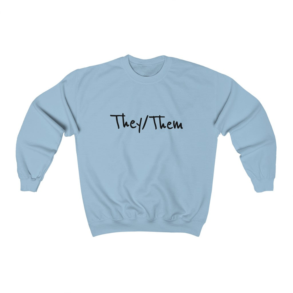They/Them Non-binary Unisex Heavy Blend™ Crewneck Sweatshirt
