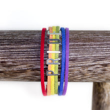 Rainbow PRIDE LGBTQIA+ Leather Bracelet