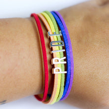 Rainbow PRIDE LGBTQIA+ (vegan) Leather Bracelet, Jewelry, HEED THE HUM
