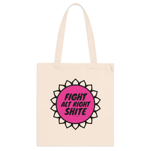 FIGHT Alt Right SHITE Tote Bag (pink)