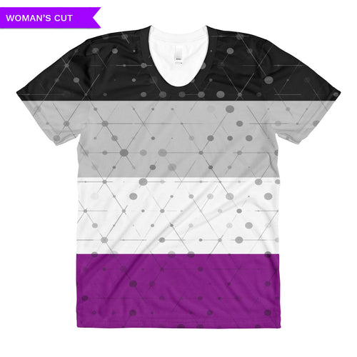 Asexual Flag All-over Printed Women's Cut T-shirt (one-sided), Shirt, HEED THE HUM