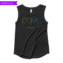 Come Out With Me Woman's Cut Cap Sleeve Shirt, Shirts, HEED THE HUM