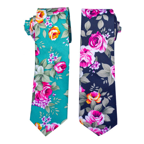 Spring Time Floral Tie