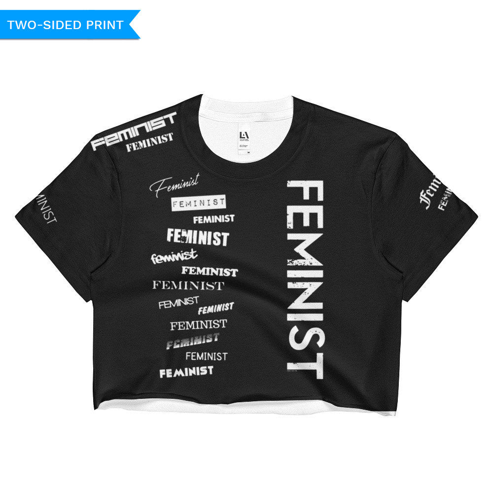Feminist Crop Top (double sided), Shirts, HEED THE HUM