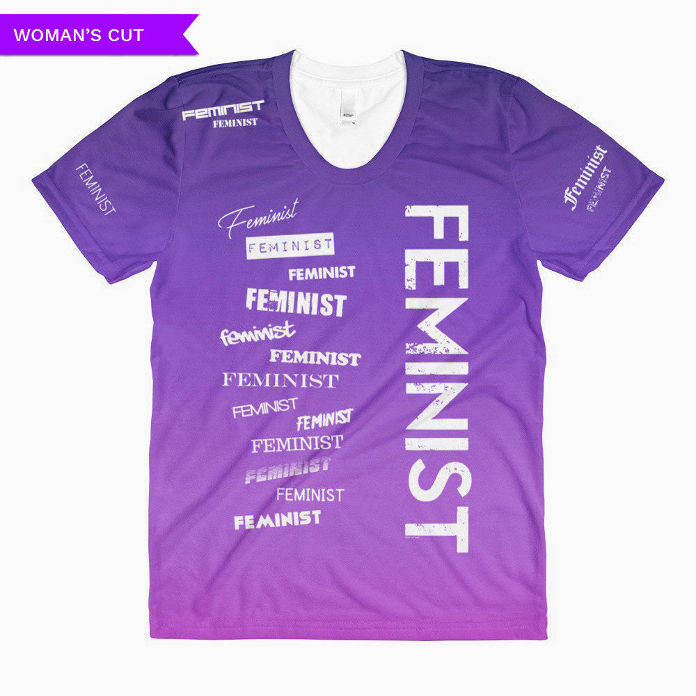 Feminist Gradient Woman's Cut T-shirt, Shirts, HEED THE HUM