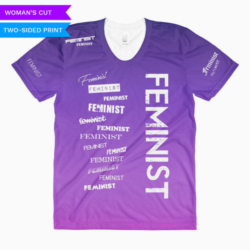 Feminist Woman's Cut T-shirt, Shirts, HEED THE HUM