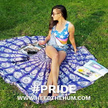 Queer LGBTQ Pride Flag Fitted Cut & Sew Tank Top, Shirts, HEED THE HUM