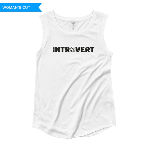 Introvert Woman's Cut Tank Top, Shirts, HEED THE HUM