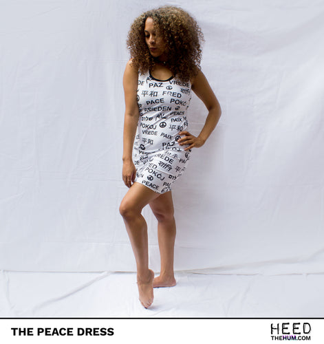 Peace All-over Print Cut & Sew Dress, Dress, HEED THE HUM