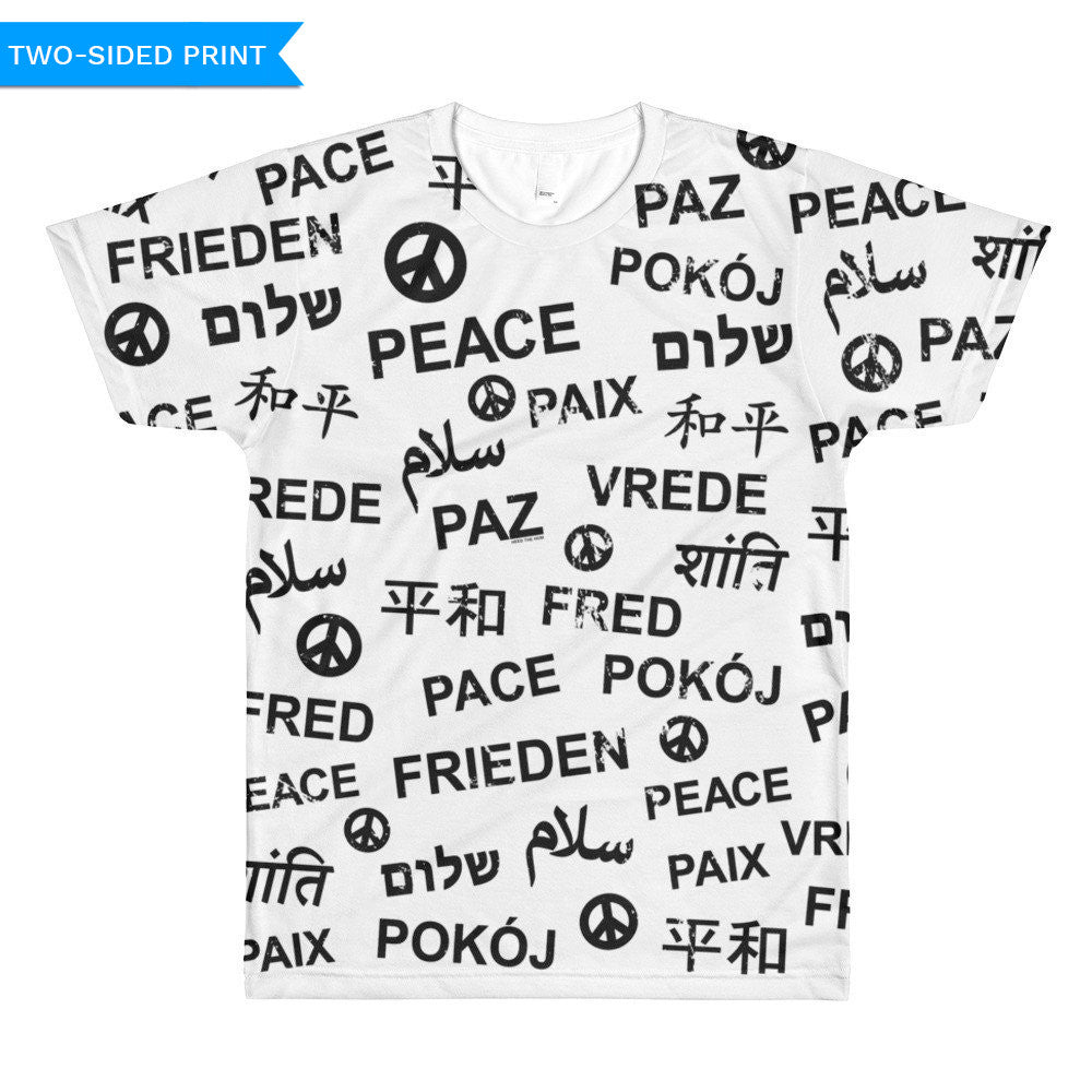 Peace Unisex T-shirt (double sided), Shirts, HEED THE HUM