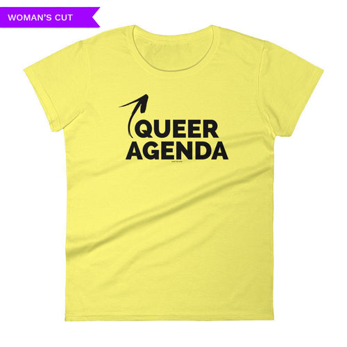 Queer Agenda Women's Cut T-shirt, Shirts, HEED THE HUM