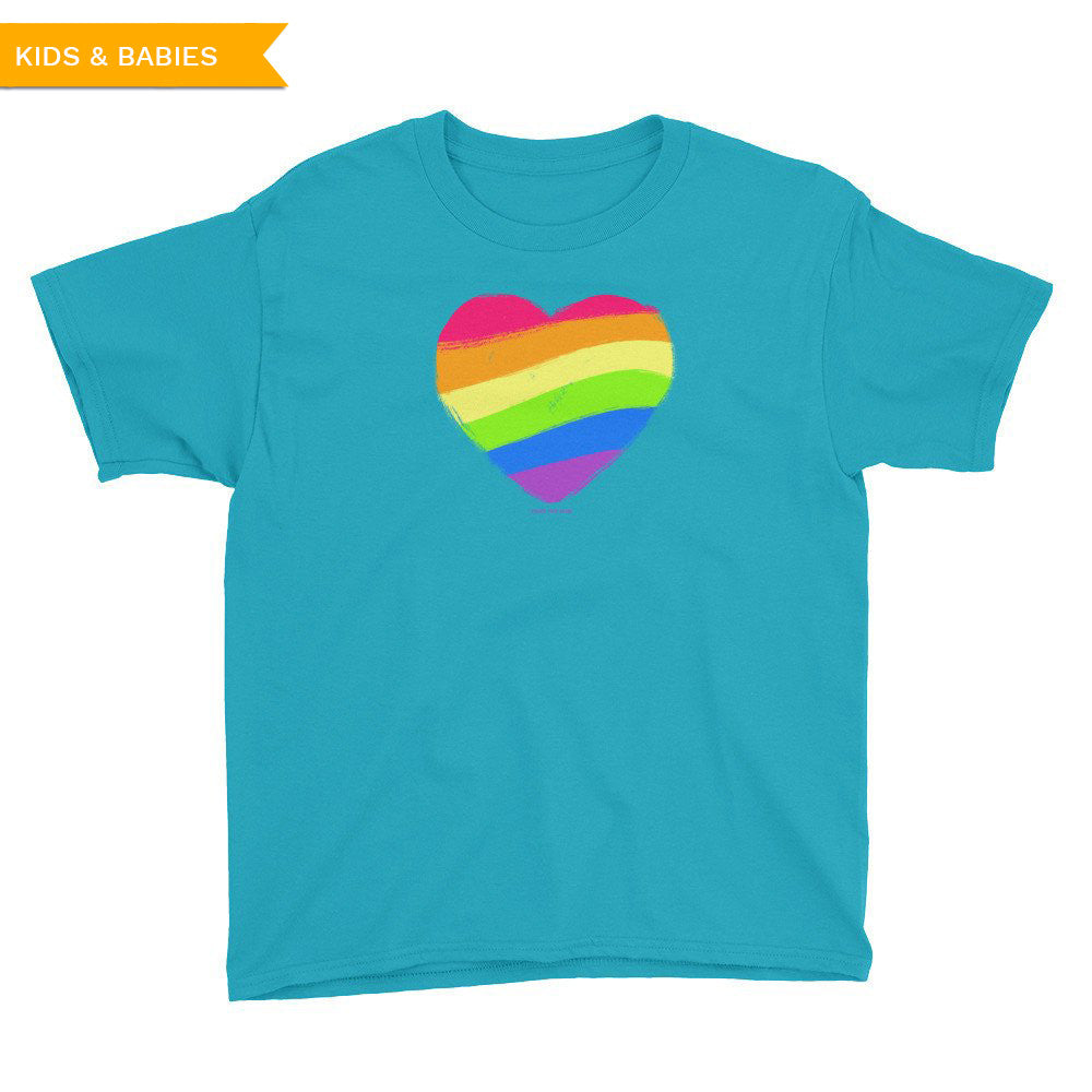 LGBTQ Queer Pride Heart Youth T-Shirt, Shirts, HEED THE HUM