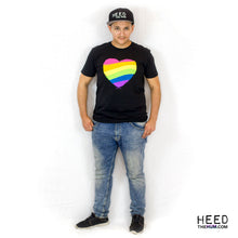 Rainbow Heart Black Unisex T-shirt - LGBTQ Queer Gay Pride