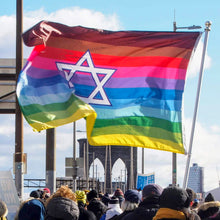 Rainbow Pride Flag with Magen David Star - LGBTQ Gay Pride Flag, Flag, HEED THE HUM