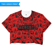 Roses Resist Red Crop Top, Shirts, HEED THE HUM