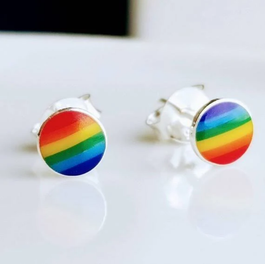 Rainbow Stud Earrings - LGBTQIA+, earrings, HEED THE HUM