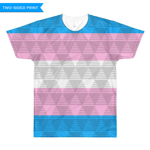 Trans Pride Flag T-shirt, Shirts, HEED THE HUM