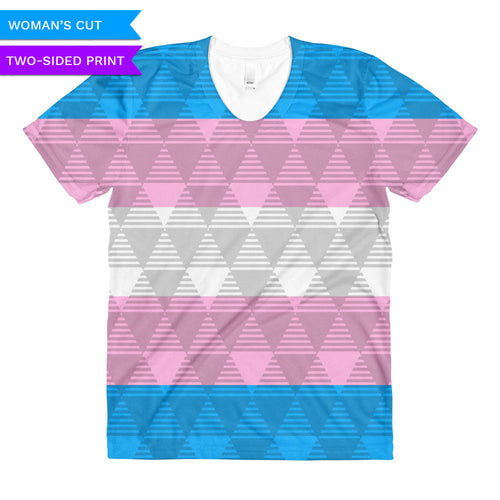 Trans Flag Woman's Cut T-Shirt