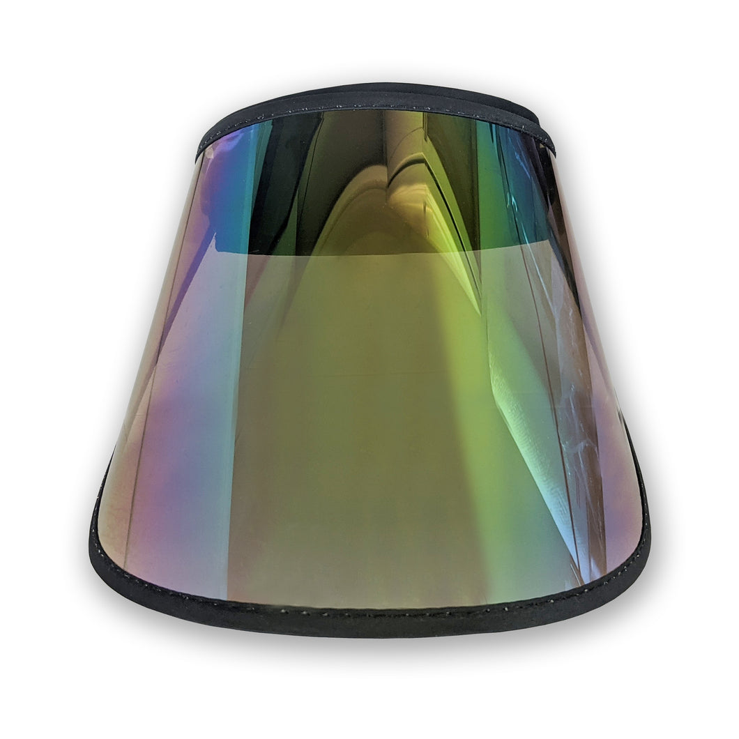 Comfortable Face Shield Visor - UV Protection, Unisex Tinted for Indoor/Outdoor Use, Anti Splash/fog, Rainbow, Durable Reusable Fashionable