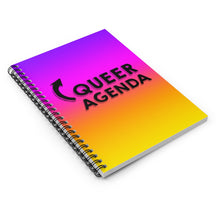 Queer Agenda Spiral Notebook - Purple, Orange, Yellow - LGBTQIA+, Paper products, HEED THE HUM