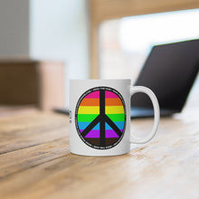 HEED THE HUM Make Peace With Yourself White Ceramic Mug