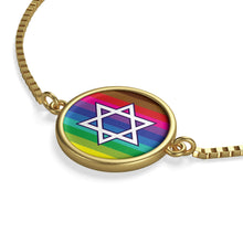 Jewish Star Gay Pride Box Chain Bracelet - LGBTQIA+, Accessories, HEED THE HUM