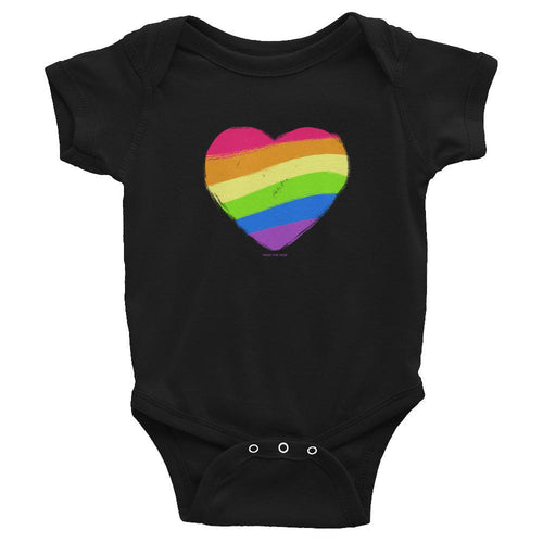 Rainbow Heart Infant Bodysuit Onesie, Infant, HEED THE HUM